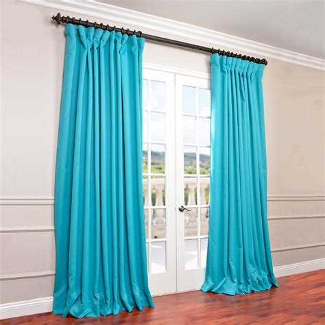 Turquoise Blackout Curtains Get Turquoise Blue Wide Blackout Curtain Panels