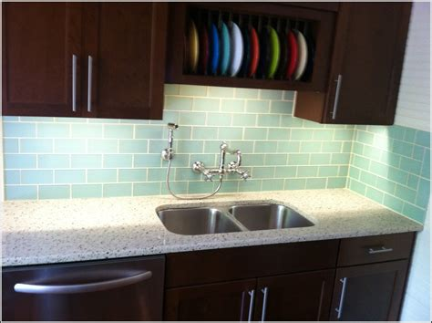 Subway Glass Tile Backsplash Tiles Home Design Ideas Glass Subway Tile Kitchen Backsplash