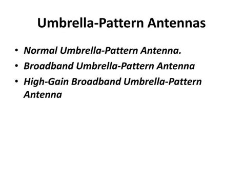 umbrella pattern antenna ppt ppt antennas at cell site powerpoint presentation id