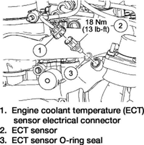 ford truck explorer wd  mfi ohv cyl repair guides coolant temperature sensor