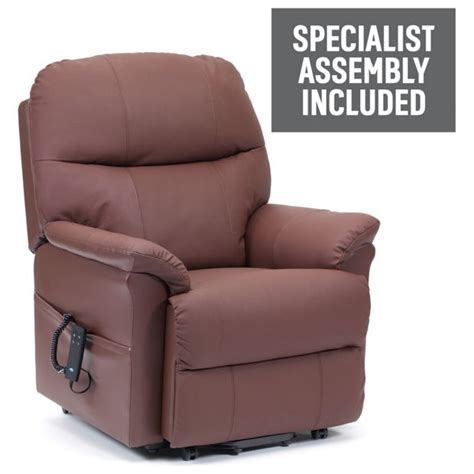 Argos Recliner Chairs Buy Lars Riser Recliner Dual Motor Leather Chair Burgundy At Argos Co Uk Your Shop