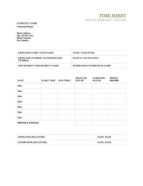Time Card Correction Template by Schedules Office