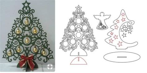 christmas dxf free trees and cdr dxf vectors laser artcam vcarve vectric aspire plasma cn cnc