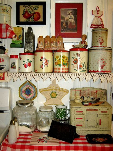 the kitchen collection stove nice canister collection in this very cute red and white