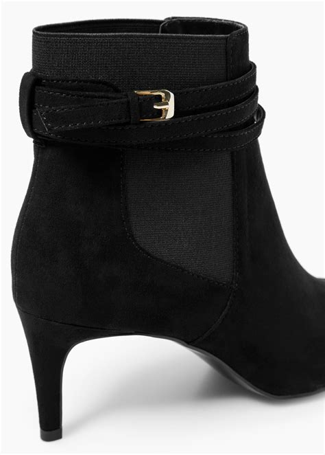 mango buckle ankle boots in black lyst