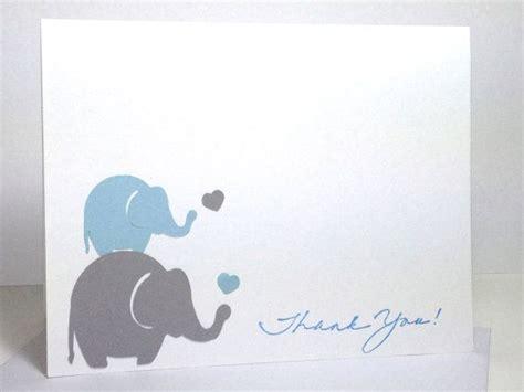 elephant cards elephant baby shower handmade thank you card by
