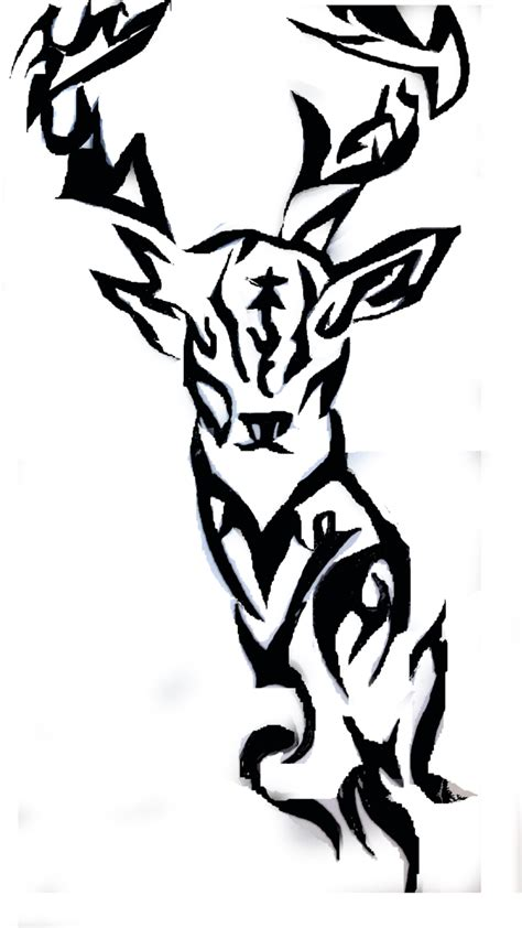 tribal hunting tattoos tribal deer tattoos tribal deer by anime96326 tribal