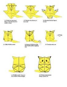 How To Make An Origami Pikachu Step By Step - pikachu origami origami pikachu and tutorials