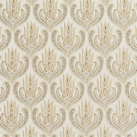 asian upholstery fabric gold and light blue ornate oriental heirloom foliage