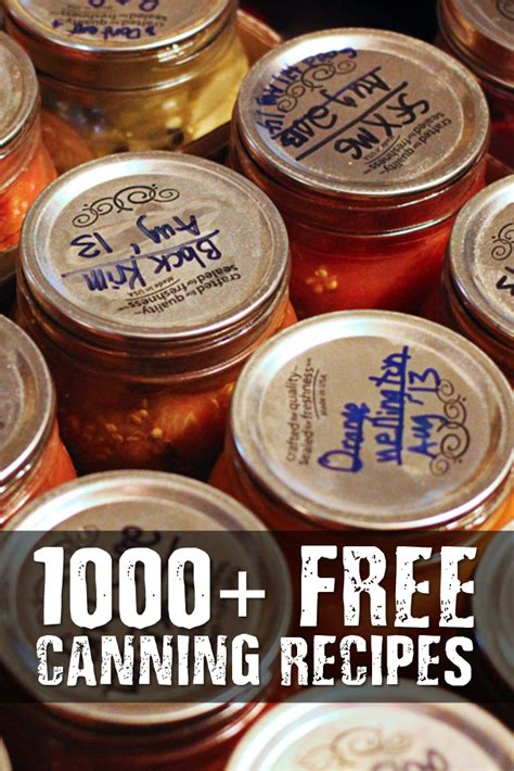 1000 images about recipes to 1000 free canning recipes shtf prepping homesteading