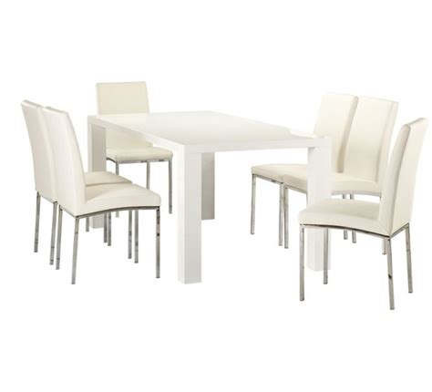 fantastic furniture dining table chairs dining set white 599 7 fantastic furniture