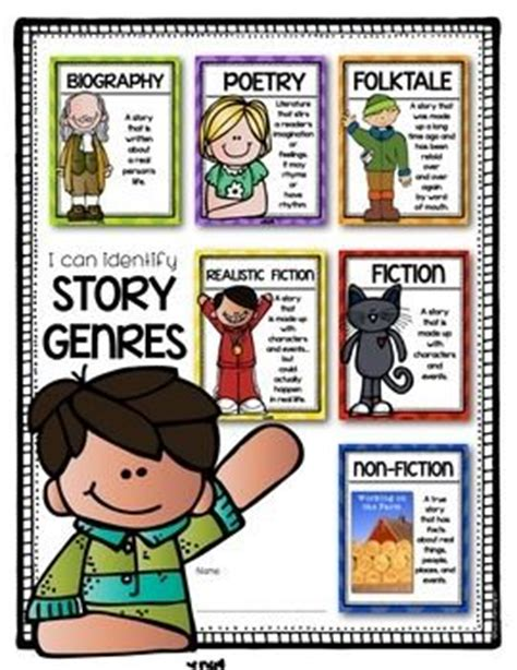 fictive biography definition genre posters for the first grade and kindergarten