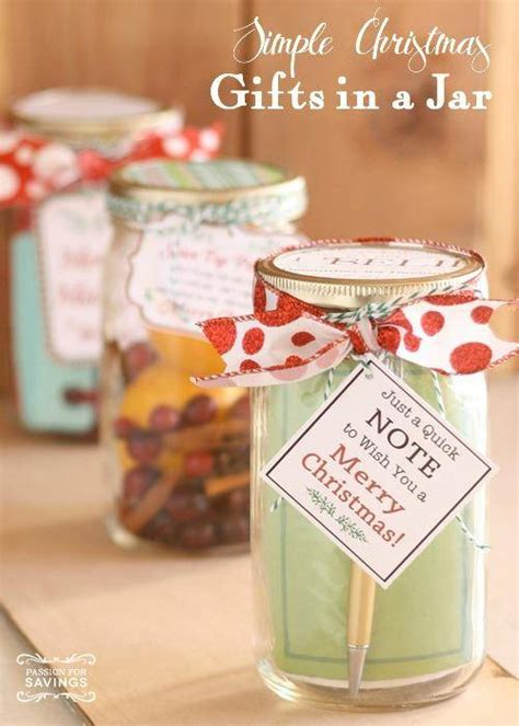 christmas gifts in a jar simple gift ideas