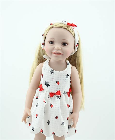 Sweet Babydoll S43 917 18 smiling doll american toys for children brown lifelike american toys in