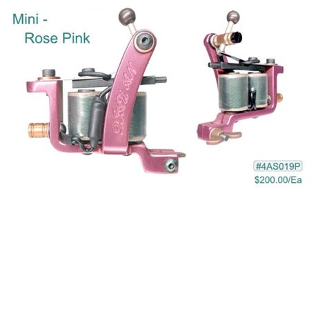 4as019p diau an mini rose pink tattoo machine