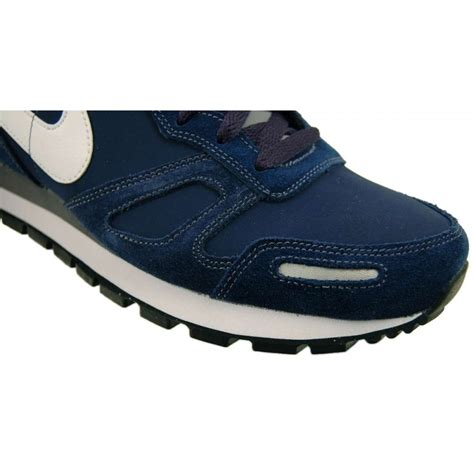 nike air waffle trainer navy white mens shoes from attic
