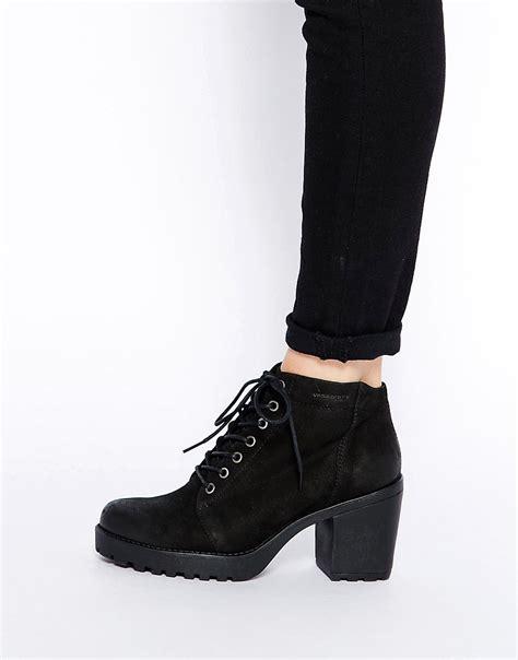vagabond vagabond grace nubuck heeled lace up ankle