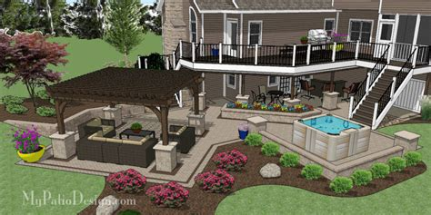 triyae custom backyard deck designs various design