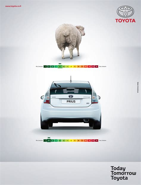 Toyota Hybrid Advert Toyota Print Ad Quot Sheep Quot Great Ads