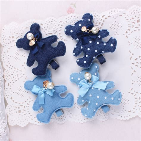Handmade Barrettes - 2016 new fashion korean and rabbit handmade blue