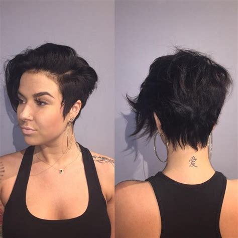 short hairstyle for thick hair and cowlick 25 best ideas about pixie haircut long on pinterest