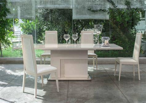 High Gloss Dining Room Furniture Italian Beige High Gloss Dining Room Furniture Set Homegenies