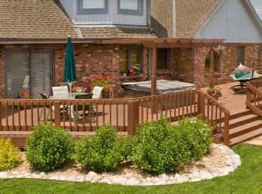 landscaping deck landscape ideas