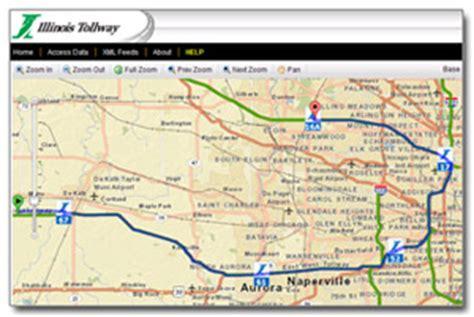illinois tollway web map