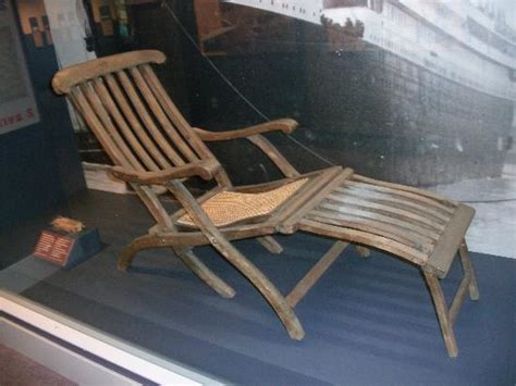 titanic deck chair indigenous sealife in the atlantic picture of