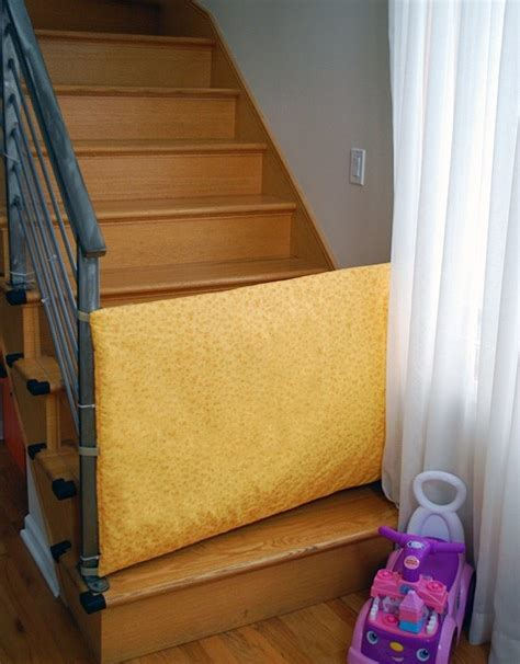baby gate for bottom of stairs banisters diy fabric baby gate kid ideas pinterest