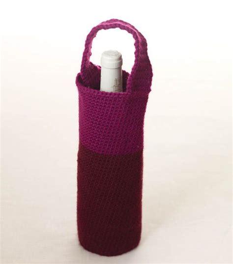 pattern for crochet bottle bag wine carrier crochet madness pinterest