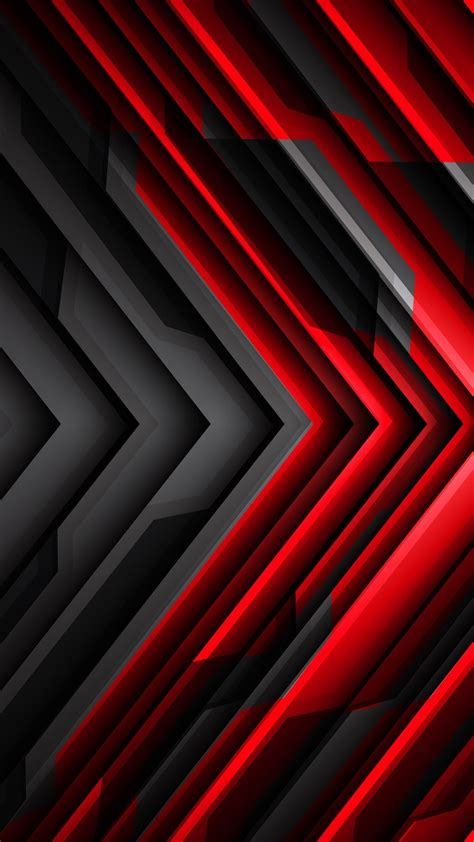 black  red striped arrow abstract  iphone