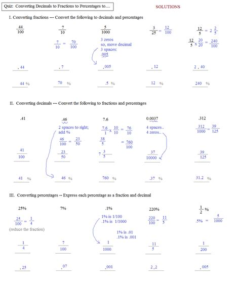 inspiration worksheets converting fractions