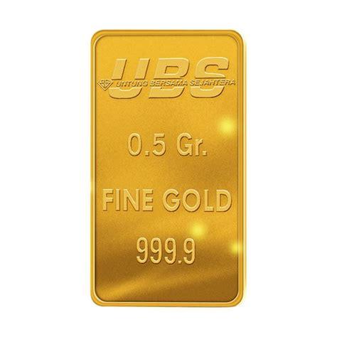Emas Murni Ubs 0 5 Gram Kandungan 99 9 jual ubs emas logam mulia 0 5 gr harga kualitas terjamin blibli