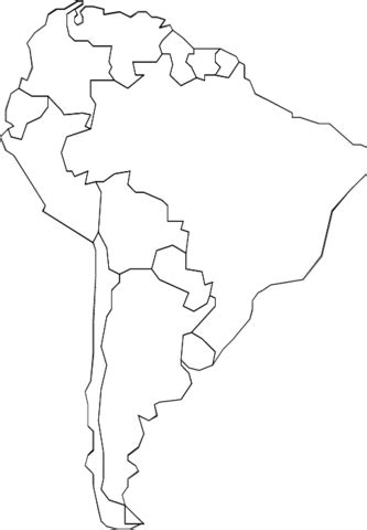 printable version of us map outline map of south america with countries coloring page