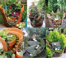 Furniture Upcycling Business - broken pots newlife mini fairy gardens2014 interior