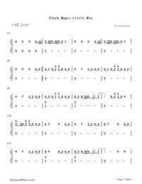 printable lyrics black magic black magic little mix numbered musical notation preview 3