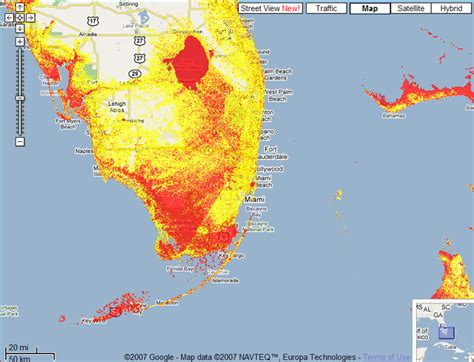 sea level rise florida map sea level rise mapplet