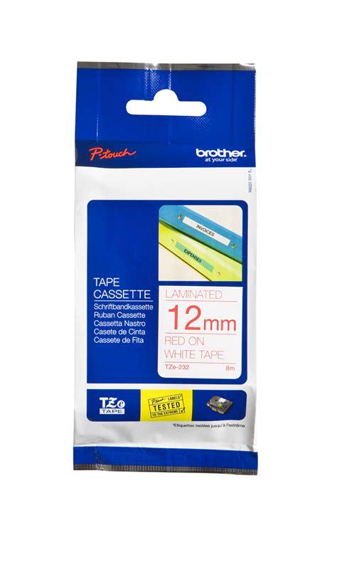 Tze 232 12mm On White cartridgestore