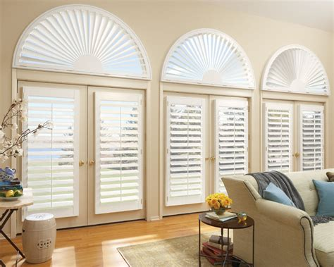 arch window shutters interior interior arch shutters transitional indianapolis by