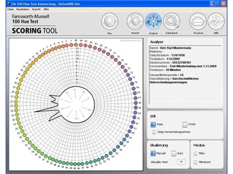 munsell color test farnsworth munsell 100 hue scoring software only