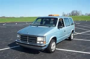 1988 Dodge Caravan Mrknoitall 1988 Dodge Caravan Cargo Specs Photos
