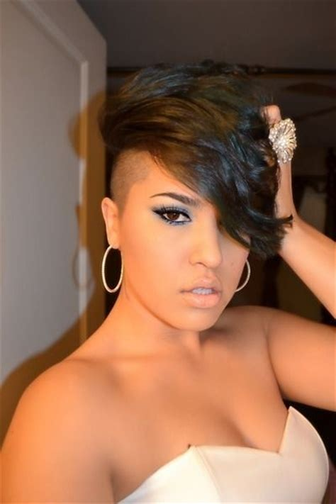 shave hair on one side black woman 22 easy short hairstyles for african american women