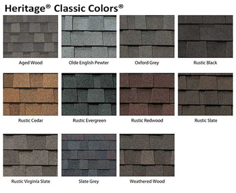 tamko heritage shingle colors roofing