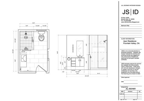 bathroom drawings valley ca residence bathroom plan elevation