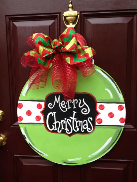ornament door hanger christmas door hanger green ornament the