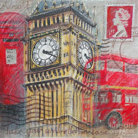 large artwork london big ben painting by leigh banks