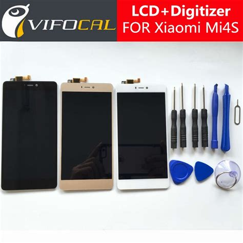 Lcd Fullset Xiaomi Mi4s Mi4 S Mi 4s Touchscreen for xiaomi mi4s lcd display touch screen tools 100 new digitizer assembly replacement for