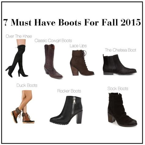 kinds of boats the 7 types of boots every woman should have in their