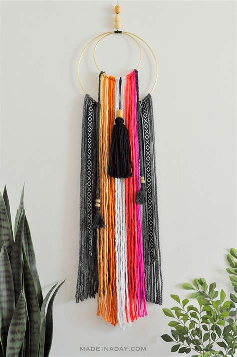 fringe home decor colorful baja boho fringe wall hanging made in a day